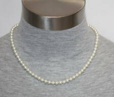 """eli k Sterling Silver 6mm Glass Base White Pearl 18"""" Necklace"""