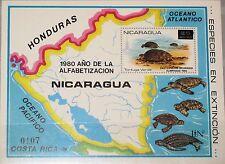 NICARAGUA 1980 Block 136 protected Animals Turtles Olympics Moscow ovp Fauna MNH