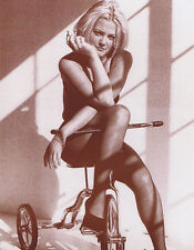 "Drew Barrymore Poster Print On Bike  11""x14"" Sepia"