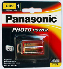 1PC Panasonic CR2 Lithium battery CR-2PA DLCR2 EL1CR2  Made in Japan, Exp 2022