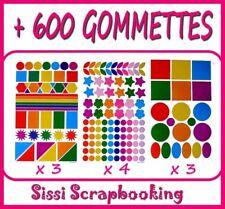 GROS LOT DE + 600 GOMMETTES AUTOCOLLANTES SCRAPBOOKING