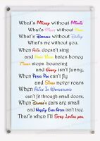 DISNEY LOVE QUOTES sign wall decor anniversary Valentines Gift Couples Him Her