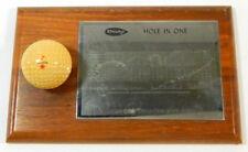 1967 Hole in One Golf Plaque Award Dunlop Golf Ball