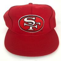 Vintage San Francisco 49ers New Era Wool Blend Fitted Hat Red NFL Dead Stock