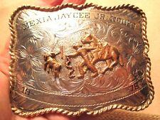 1976 B-K Silversmiths JAYCEES JR RODEO Sterling Trophy Belt Buckle MAKE OFFER