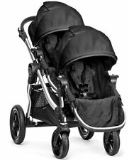 Baby Jogger City Select Twin Tandem Double Stroller Onyx with Second Seat NEW