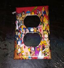 Custom Handmade 80's Retro Cartoons - Electric Outlet Cover