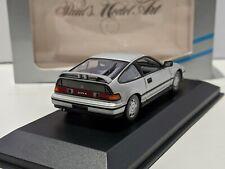 Honda CR-X Civic CRX Mk2 1989 Silver 1/43 MINICHAMPS Rare