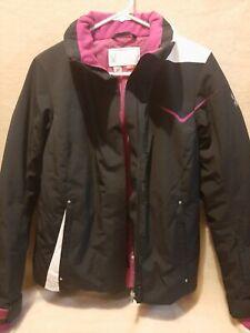 Spyder Ladies Ski Jacket Amp Jacket Black / Pink / White