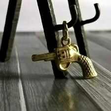 Fine Vintage Gold 18K Puffy Gun Charm Pendant