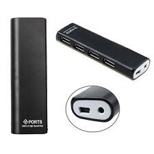 Fino HUB 4 Puertos Alta Velocidad USB 2.0 HUB+Adaptador Corriente
