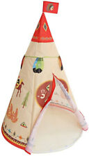 Kids TeePee Play Tent Indoor Outdoor Red Indian Prince Princess Playhouse Camp