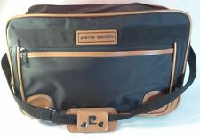 Pierre Cardin Luggage Tote Bag, Small, Black & Brown, Long Strap