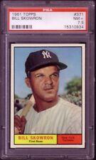 1961 TOPPS BILL SKOWRON  CARD NO:371 PSA 7.5  NEAR MINT PL;US