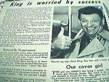 newspaper cutting 1956 dave king comedian
