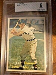 1957 Topps Baseball Card #102 Ray Boone BVG 6