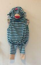 SOCK MONKEY HALLOWEEN COSTUME NWT Boo Babies BLUE STRIPE Infant 9-18 Mths 3 PC