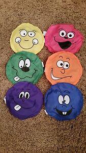 "12 - 5"" Happy Smile Face Nylon Bean Bags - Carnival Games - Toss Cornhole Baggo"
