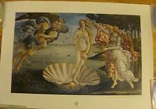 """THE BIRTH OF VENUS"" by BOTICELLI Color Art Plate Lithograph 19.5 x 13.5"