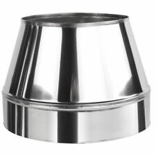 Stainless Steel Top Cone 150mm / 220mm for Twin Wall Insulated Flue Pipe Cowl