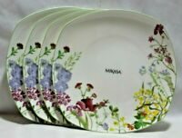 Mikasa Wildflower Bone China Multi-Color Floral  Dinner Plates Set of Four New