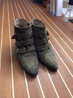 CHLOÉ Stiefeletten Gr. D 39 Beige Damen Schuhe Susanna Boots Leather Stiefel