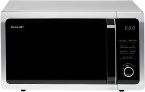Sharp R374SLM Freestanding Microwave Oven Button & Dial Controls 25L 900W Silver