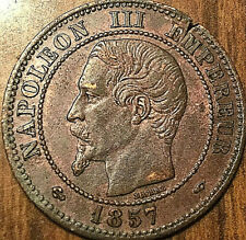 1857 A FRANCE NAPOLEON III 2 CENTIMES - Superb example!