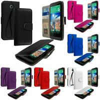 For HTC Desire 510 Wallet Flip Pouch Case Cover ID Card Holder Accessory