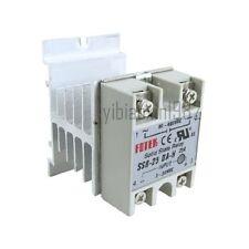 New SSR-25DA-H 25A Solid State Relay Module 3-32VDC/90-480VAC + Heat Sink