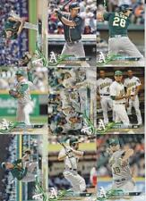 2018 TOPPS Series 2 OAKLAND ATHLETICS team set (9 cards)