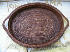 HAND CRAFTED WOVEN WICKER BASKET TRAY 14