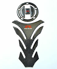 Suzuki GSX-R Real Carbon Fiber Tank Protector Pad +Gas cap Sticker trim Sticker