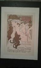 Alphonse Mucha Maitres de l'affiche proof lithograph Art Nouveau Poster Cheret