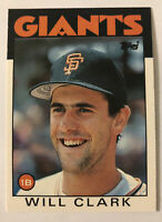 1986 TOPPS TRADED WILL CLARK RC #24T GIANTS Mint!! Free Shipping