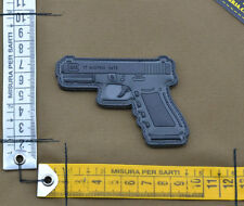 "PVC / Rubber Patch ""GLOCK 17"" with VELCRO® brand hook"