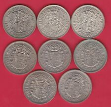 More details for eight half crowns 1939 to 1967 in near extremely fine to near mint condition