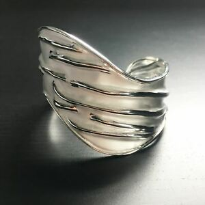 'Lucent' Cuff Bangle - Sterling Silver Cuff Bangle