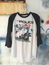 vtg 80s THE POLICE Concert T Shirt jersey Ghost in the Machine tour 1982 band M