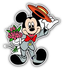 Mickey Mouse Hat Cartoon Car Bumper Sticker Decal 4'' x 5''
