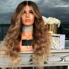 """28"""" Ladies Ombre Blonde Long Curly Wigs Women Natural Body Wavy Hair Cosplay Wig"""