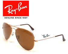 NEW Ray-Ban Aviator RB3025 001/33 GOLD Frame BROWN CLASSIC B-15 Lens Sunglasses