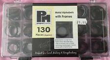 Metal Alphabets With Frames 130 Pcs New