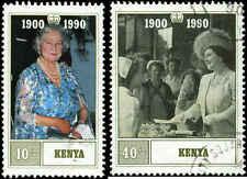 Kenya Scott #527 - #528 Complete Set of 2 Used   Queen Mother 90th Birthday