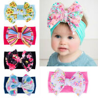 Hair Accessories Big Bow Baby Nylon Headband Knot Turban Newborn Headwraps