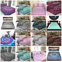Indian Mandala Duvet/Doona/Quilt Cover Set King/Queen/Single/Double Size Bedding