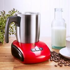 Heska   Electric Milk Frother U0026 Warmer   Dishwasher Safe   Hot And Cold Milk  RED