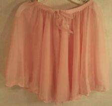 Capezio Dance Gymnastic Skirt Leotard Bottom Cover Sheer Pink Youth Girls S EUC
