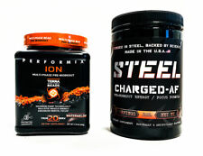 Steel CHARGED AF Blood Orange + Performix ION Watermelon PRE-WORKOUT COMBO STACK