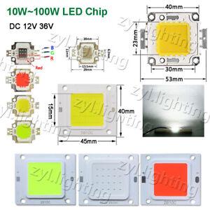 LED chip 12v 36v COB 10w 20w 30w 50w 100w smd flood lights bulbs rgb panel beads
